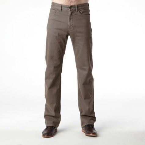 Mens Riders by LEE Classic Jean Style Straight Leg Stretch Moleskin- Woodland