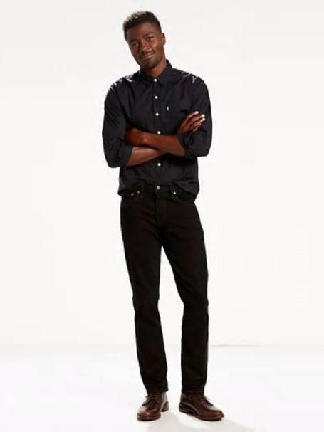 Men's Levi's 511 Slim Fit Stretch Denim Jeans in BLACK