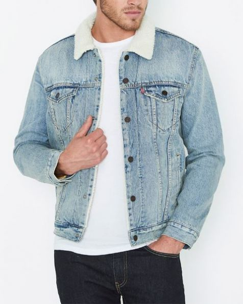 Men's Levi's Sherpa Trucker Denim Jacket FINE LINE