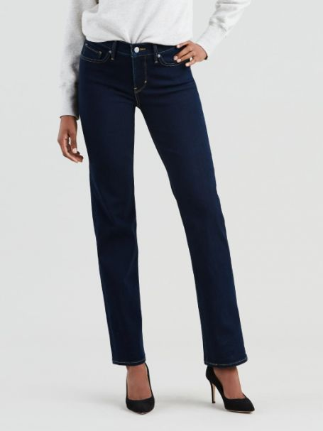Ladies' Levi's 314 Shaping Straight Denim Jeans OPEN OCEAN