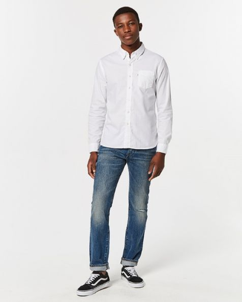 Levi's Men's Sunset 1 Pocket Button Up Shirt WHITE
