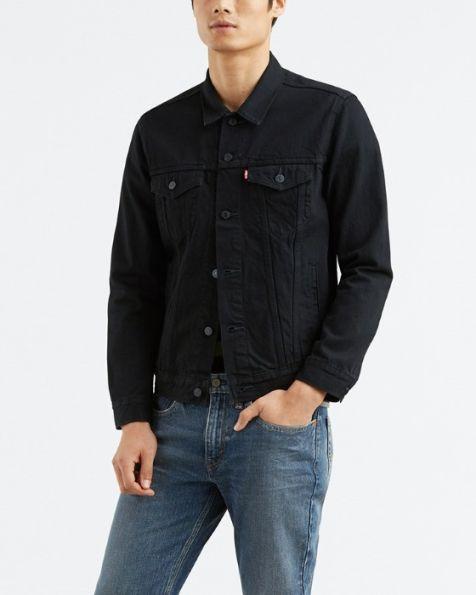 72334-0306 Men's Levi's The Trucker Denim Jacket BLACK BERK TRUCKER