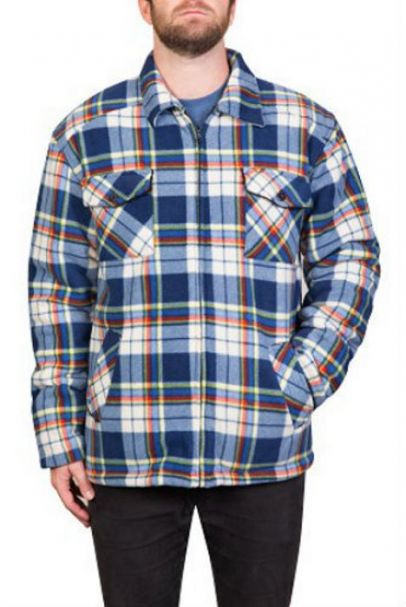 Men's Adventureline Shearers Fleece Jacket BLUE CHECK