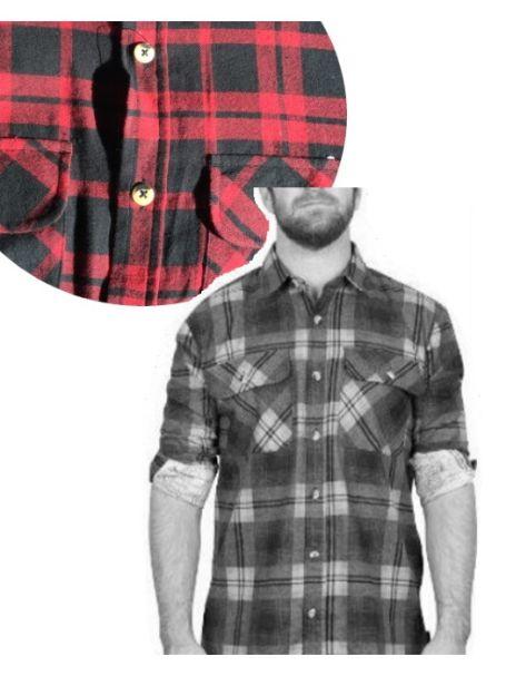 Adventureline Men's Flannelette Shirt - Red/Black Check
