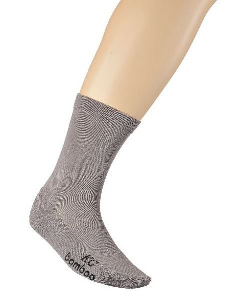 Bamboo Loose Top Business Socks - Grey