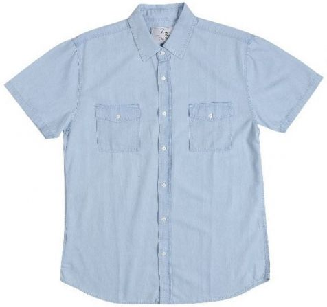Mens Bamboo Denim Short Sleeve Shirts: Chambray