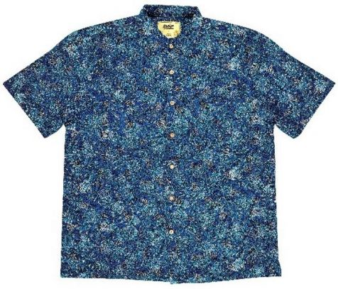 "Men's Bamboo Short Sleeve Shirt - ""Dreaming Range"" MIKANJI DREAMING"