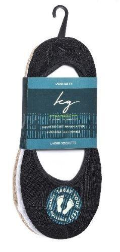Bamboo Sockettes Men's Size 6-11 3 Pack - 1 x Black, White & Grey