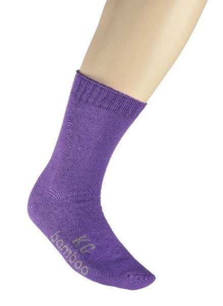 Bamboo Fibre Work Socks - Purple