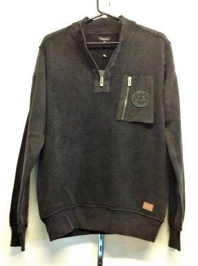 Berlin Mens Stonewashed Sweatshirts - Black