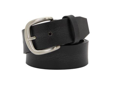 Buckle 1922 Men's Buffalo Leather Belt in Black