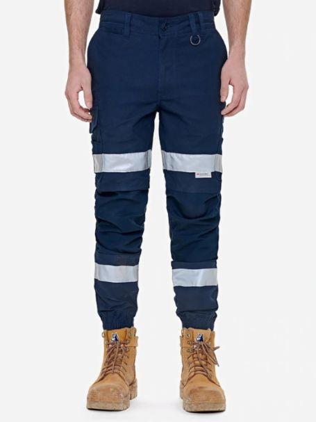 Men's Elwood Reflective Cuffed Work Pants in Navy