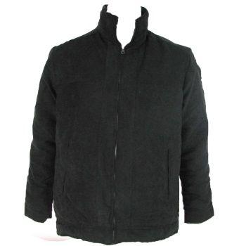 Coast Highway Mens Fleece Lined Suede Jacket - Black