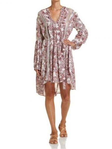 JAG Ladie's Valentina Dress in Pink & Spice Tone Paisley Print