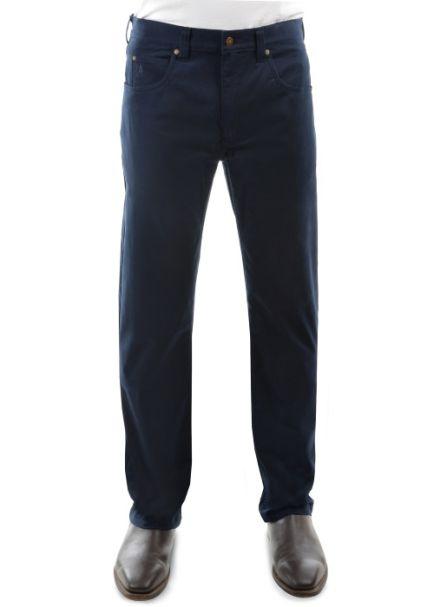 Men's Thomas Cook Tailored Slim Leg Stretch Moleskin Jeans NAVY