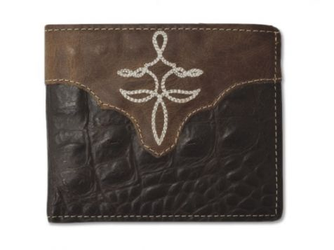 Twisted X Bifold Brown Gator Leather Wallet