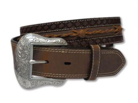 "Twisted X Men's Brown Genuine Leather Belt 44"""