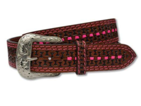 Twisted X Western Embossed Genuine Leather Belt