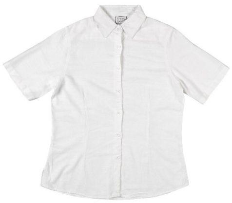 Ladies Bamboo Short Sleeve Shirt - White