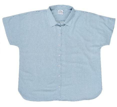 Ladies' Bamboo Short Sleeve Shirt CHAMBRAY