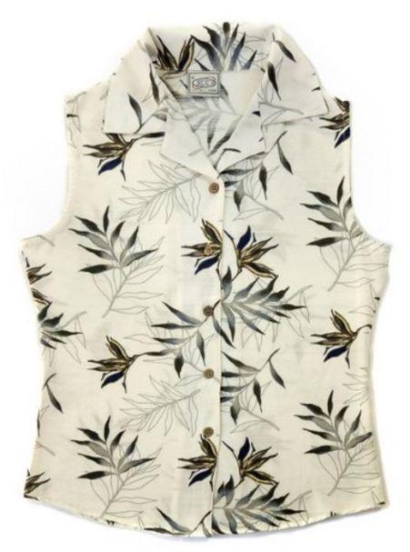 Ladies' Bamboo Fibre Sleeveless Shirts Fern