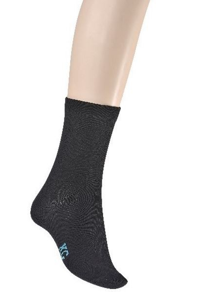 Bamboo Loose Top Crew Socks for Ladies - Black (Default)