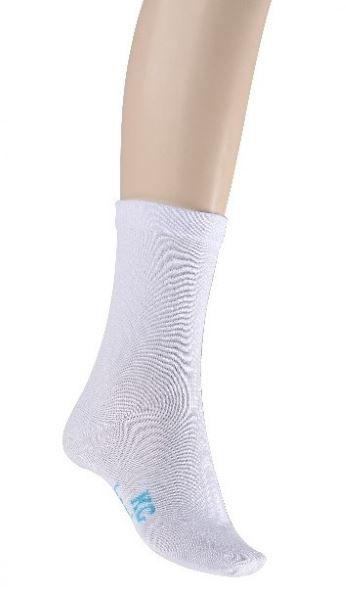 Bamboo Loose Top Crew Socks for Ladies - White (Default)