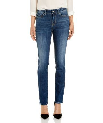 """Ladies JAG 'The Bianca' - High Rise Slim Straight Jeans in """"Baltic"""""""