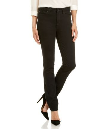 """Ladies JAG 'The Bianca' - High Rise Slim Straight Jeans in """"Black"""""""