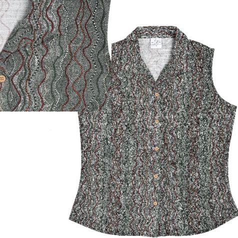 Ladies' Bamboo Fibre Sleeveless Shirt SEED DREAMING