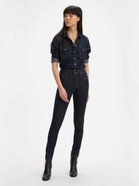 Ladies' Levi's 721 High Rise Super Skinny Denim Jeans TO THE NINE