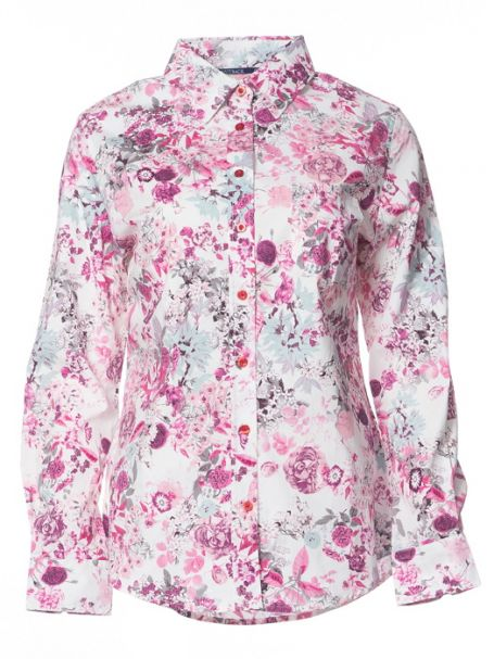 Ladies' Outback 'Pink Rose' 100% Cotton Button-Up Long Sleeve Shirt