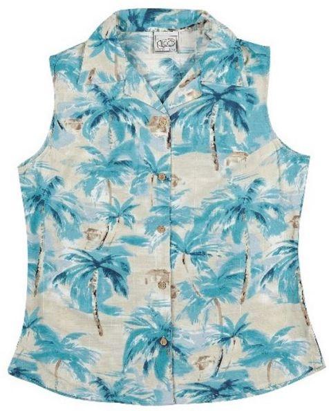 Ladies' Bamboo Fibre Sleeveless Shirts Blue Lagoon