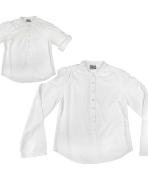 Ladies Long Sleeve Bamboo Shirt - White