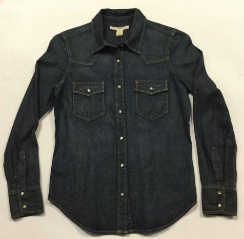 Ladies' Levi's Tailored Western Denim Shirt DARK INDIGO