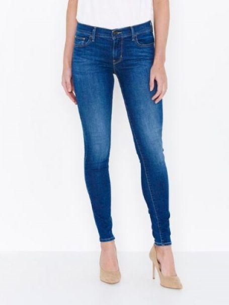"Ladies Levi's 710 Super Skinny Jeans in ""Frolic Blue"""