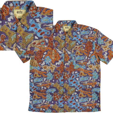 """Men's Bamboo Short Sleeve Shirt """"Dreaming Range"""" DESERT FRINGE DREAMING"""