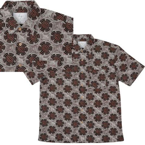 """Men's Bamboo Short Sleeve Shirt """"Dreaming Range"""" FLYING ANT"""