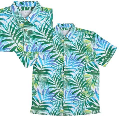 Men's Bamboo Fibre Short Sleeve Shirt: Rainforest