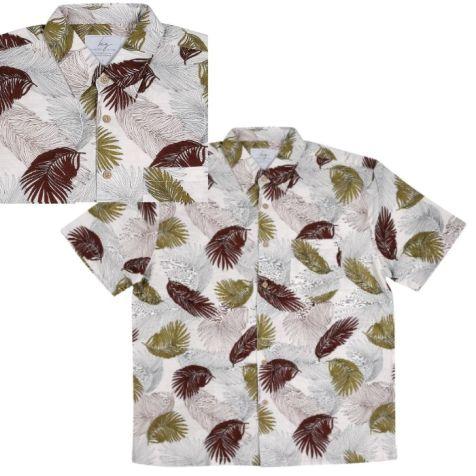 Men's Bamboo Fibre Short Sleeve Shirt: Urban Jungle