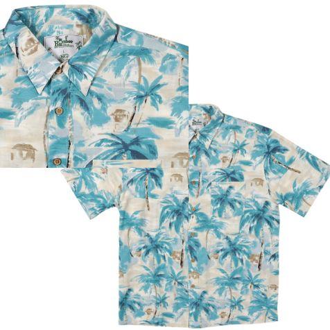 Mens Bamboo Fibre Short Sleeve Shirts BLUE LAGOON