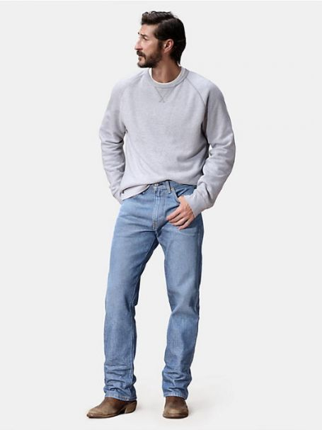 Men's Levi's Western Fit Straight Stretch Denim Jeans PASSING TIME