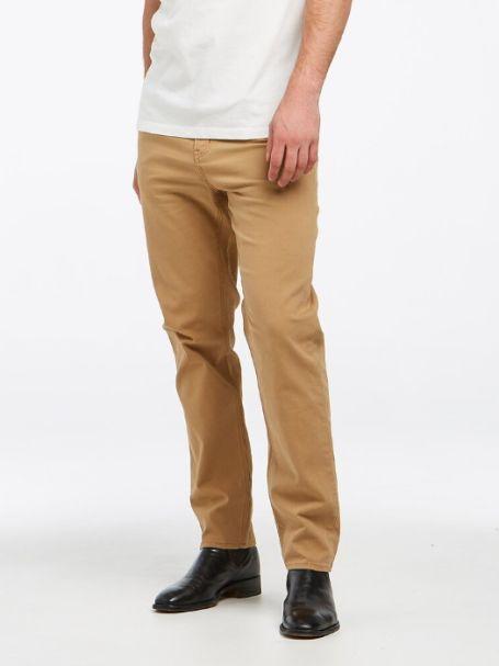 Men's Riders by Lee Classic Straight Slim Denim Jeans in Dark Sand