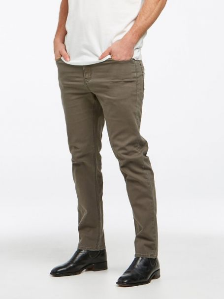 Men's Riders by Lee Classic Straight Slim Denim Jeans in Utility Green