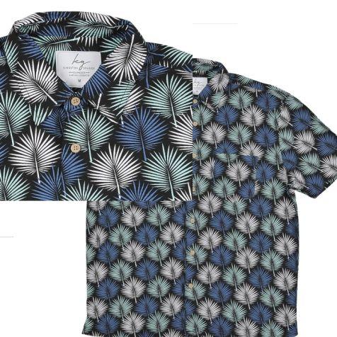 Mens Bamboo Fibre Short Sleeve Shirts BARBADOS