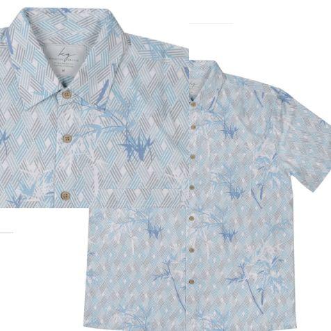 Men's Bamboo Fibre Short Sleeve Shirts GEOMETRIC