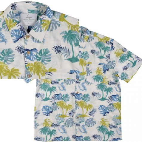 Men's Bamboo Fibre Short Sleeve Shirt WHITSUNDAYS