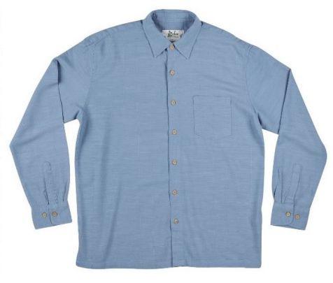 Men's Bamboo Fibre Long Sleeve Shirt in New Blue