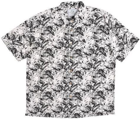 Mens Bamboo Fibre Short Sleeve Shirts: Black Fern