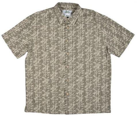 Mens Bamboo Fibre Short Sleeve Shirts: Green Bamboo
